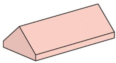 LEGO Bulk Bricks 10007 2x4 Sand Red Ridge Roof Tiles, Steep Sloped