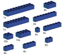 LEGO Bulk Bricks 10009 Assorted Blue Bricks
