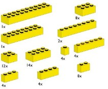 LEGO Bulk Bricks 10010 Assorted Yellow Bricks