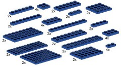 LEGO Bulk Bricks 10011 Assorted Blue Plates