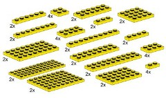 LEGO Bulk Bricks 10012 Assorted Yellow Plates