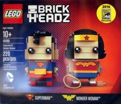 LEGO BrickHeadz 41490 Superman & Wonder Woman