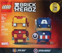 LEGO BrickHeadz 41492 Iron Man & Captain America
