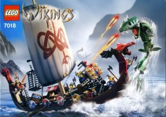 LEGO Vikings 7018 Viking Ship challenges the Midgard Serpent