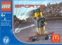 LEGO Sports 7921 Skateboarder, Grey Vest