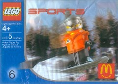 LEGO Sports 7922 Snowboarder, Orange Vest